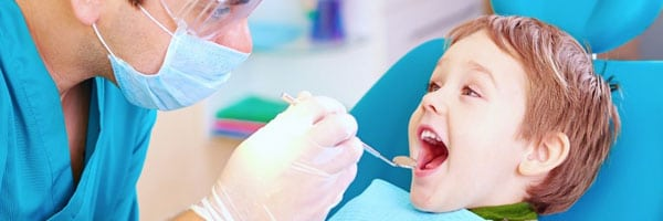dentist with baby