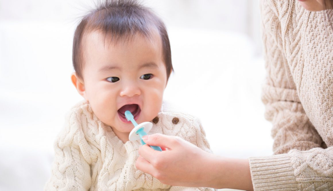Even before your baby has teeth, you can start practicing good oral hygiene.